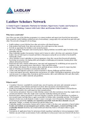 Laidlaw Scholars Network