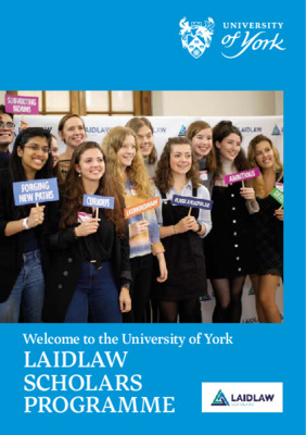 Laidlaw Scholarship; Cohort 4 - Welcome Booklet