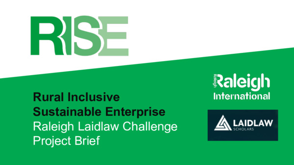 Raleigh Laidlaw Challenge 2020 Project Brief