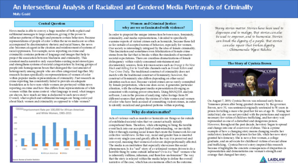 An Intersectional Analysis of Racialized and Gendered Media Portrayals of Criminality