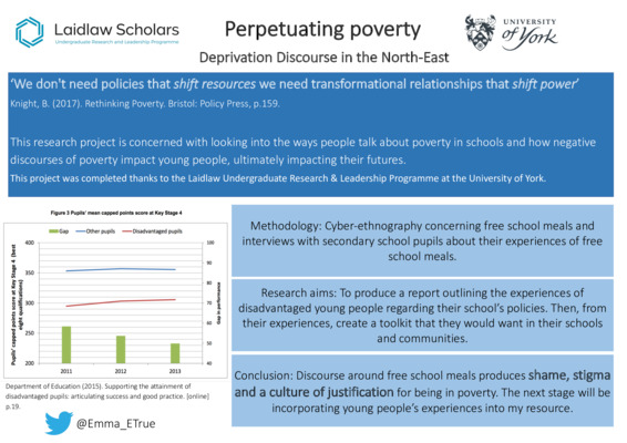 Perpetuating Poverty: Deprivation Discourse in the North East- Research Poster