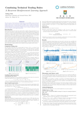 Rule-based Recurrent Reinforcement Learning strategy for financial trading