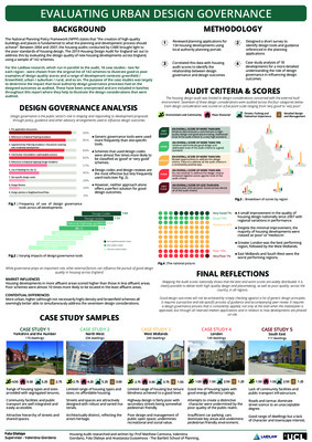 Evaluating Urban Design Governance - Research Poster