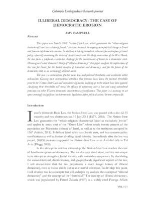 Article publication - 'Illiberal Democracy: The case of Democratic Erosion'