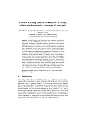 Is MOOC Learning Different for Dropouts?