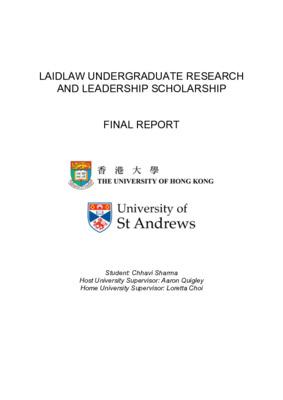 Laidlaw Final Report - Chhavi Sharma