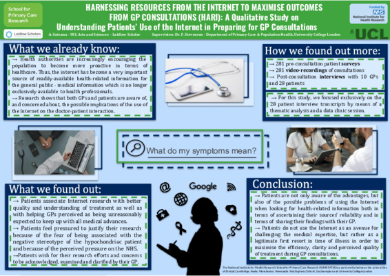 Dr. Google, am I really sick? - A Qualitative Study on Understanding Patients' Use of the Internet in Preparing for GP Consultations