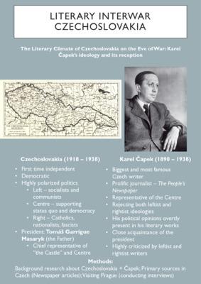 Literary Interwar Czechoslovakia