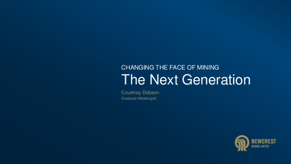 Changing the face of mining: The next generation