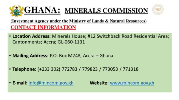 Ministerial Address: Ghana