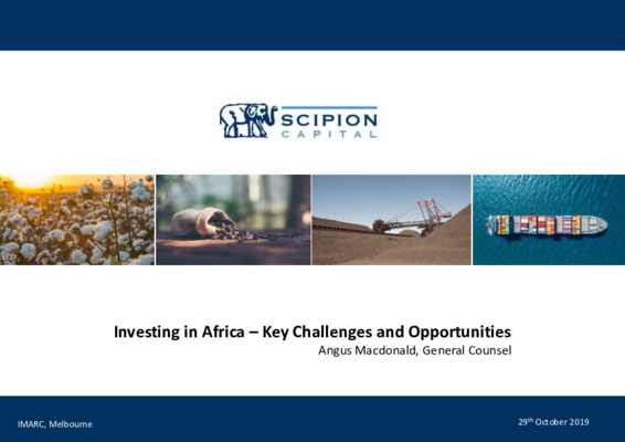 Investing in Africa: Understanding some of the key challenges and opportunities across the region
