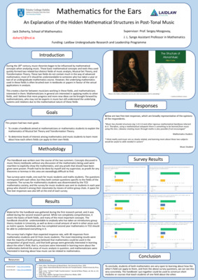 Mathematics for the Ears: Jack Doherty Project Poster, Laidlaw 2019-2020 TCD