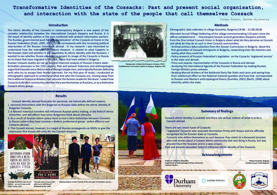 Research Poster: Transformative Identities of the Cossacks