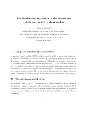 The localisation transition in the sub-Ohmic spin-boson model: a short review