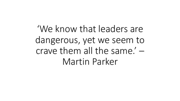 Anarchist leadership: needless vanity or intractable phenomenon? - slides