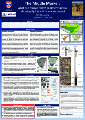 Poster - The Middle Marker: What can Africa's oldest sediments reveal about early life and its environment?