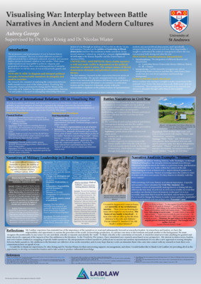 Visualising War Research Poster