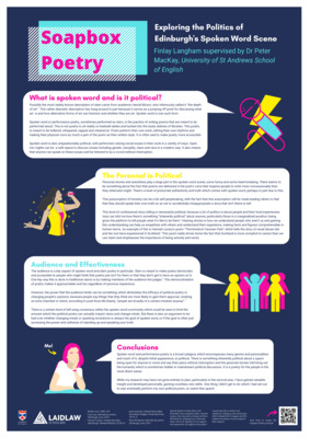 Soapbox Poetry Research poster
