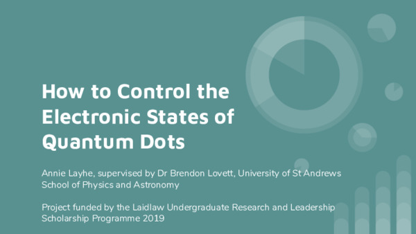 How to Control the Electronic States of Quantum Dots Presentation