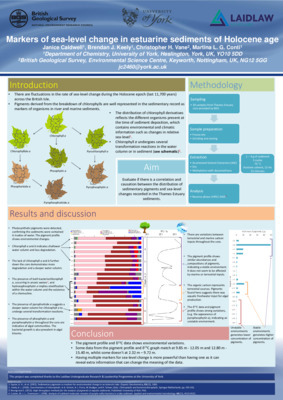 Markers of sea-level change in lake sediments of Holocene age - conference poster