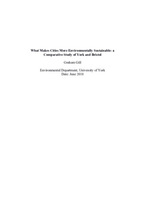 What Makes Cities More Environmentally Sustainable: a Comparative Study of York and Bristol