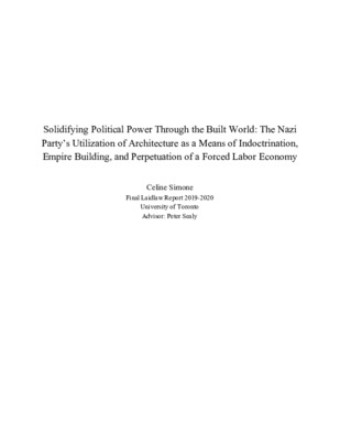 Solidifying Political Power Through the Built World