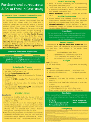 Partisans and Bureaucrats: A Bolsa Familia Case Study Poster