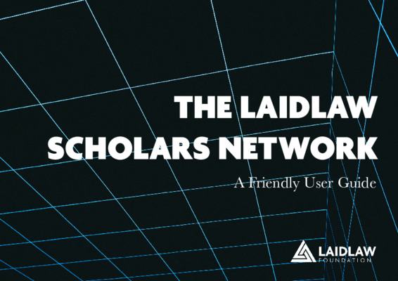 The Laidlaw Scholars Network Guide
