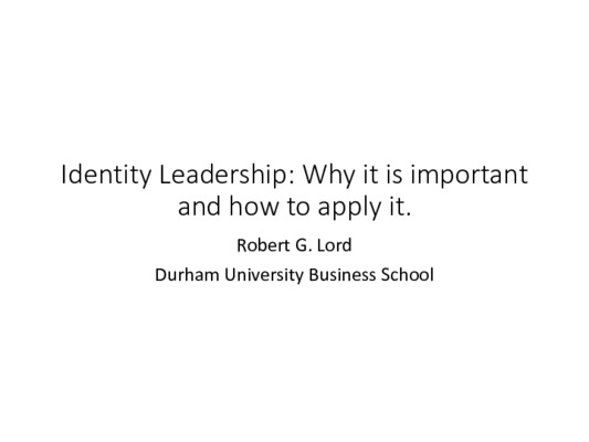 Slides: Identity Leadership