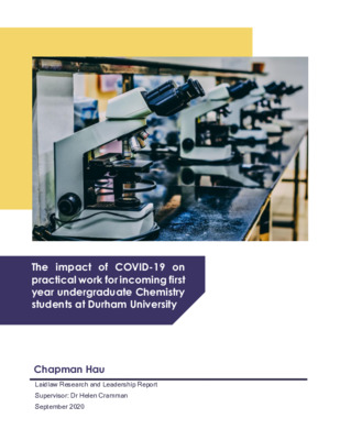 The Impact of COVID-19 on Incoming First Year Chemistry Students at Durham University