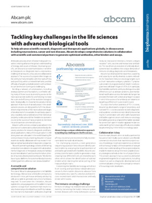 Tackling key challenges in the life sciences with advanced biological tools