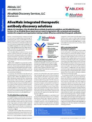 AlivaMab: integrated therapeutic antibody discovery solutions