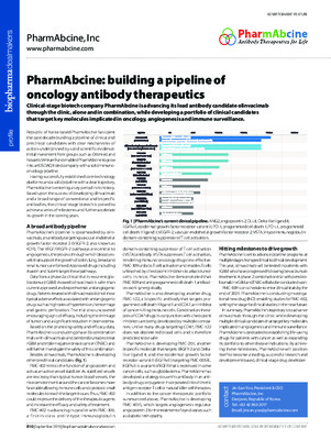 PharmAbcine: building a pipeline of oncology antibody therapeutics