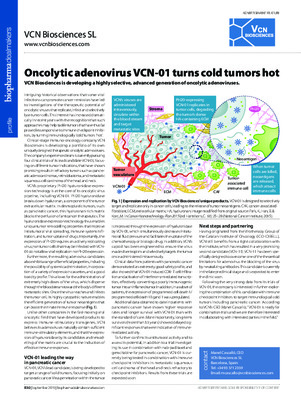 Oncolytic adenovirus VCN-01 turns cold tumors hot