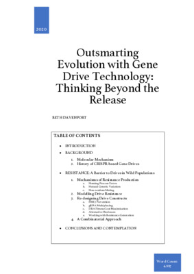 Outsmarting Evolution with Gene Drive Technology: Thinking Beyond the Release