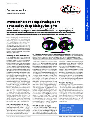 Immunotherapy drug development powered by deep biology insights