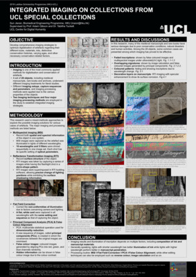 Poster: Integrated Imaging on Collections From UCL Special Collections