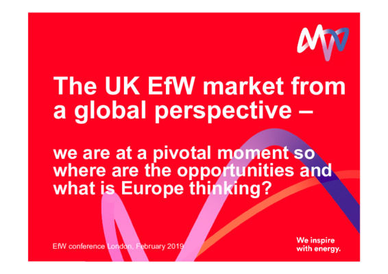 EfW 2019: The UK EfW market from a global perspective