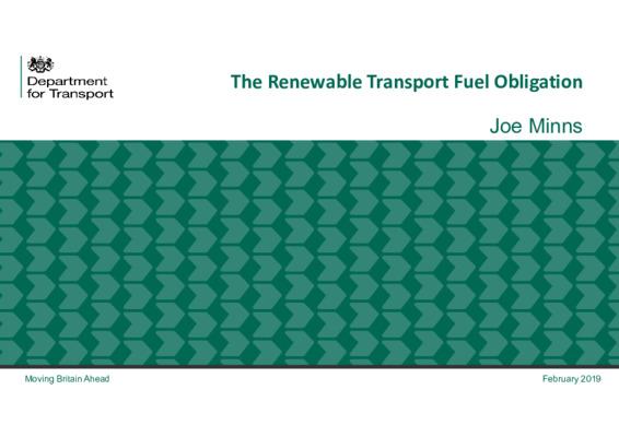 EfW 2019: The Renewable Transport Fuel Obligation