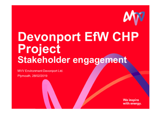 EfW 2019: Successful engagement 2: Devonport EFW CHP project
