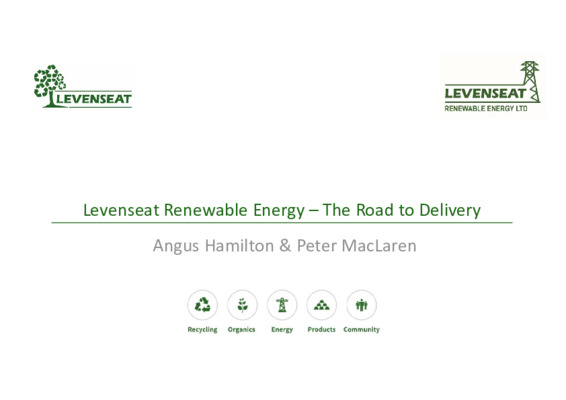 EfW 2019: Levenseat renewable energy - the road to delivery