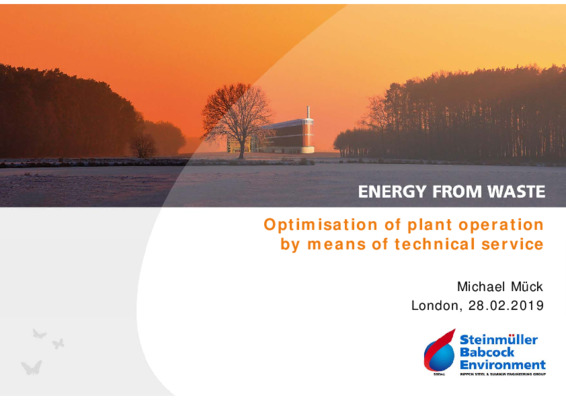 EfW 2019 Lessons from abroad: Optimisation of plant operation by means of technical service