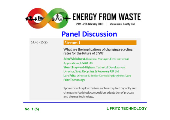 EfW 2019 Panel discussion: What are the implications of changing recycling rates for the future of EfW?