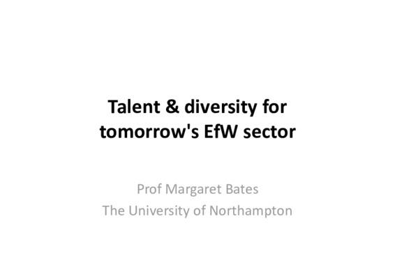 EfW 2019: Talent and diversity for tomorrow's EfW sector 1