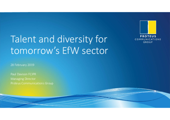 EfW 2019: Talent and diversity for tomorrow's EfW sector 2