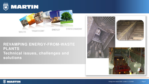 Revamping energy from waste plants: technical issues, challenges, and solutions