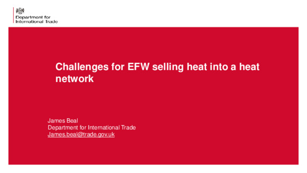 Challenges for EfW plants selling heat into a heat network