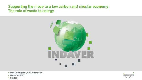 Keynote: Supporting the move to a low-carbon and circular economy – the role of waste to energy
