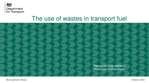 The uses of wastes in transport fuel