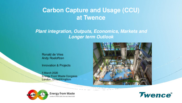 Carbon capture and usage at Twence